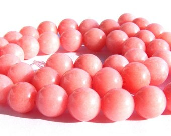 8 morganites de 8 mm perles pierre rose.