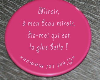 """Mirror """"which is the most beautiful? It's MOM..."""" 59 mm"""