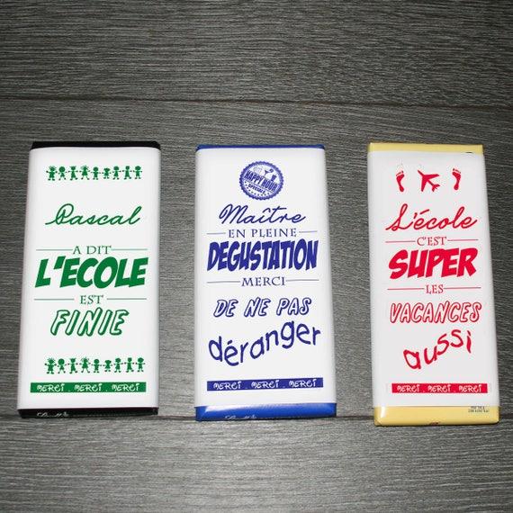3 emballages chocolat pour ma tre en vacances personnalis - Emballage tablette chocolat a imprimer gratuit ...