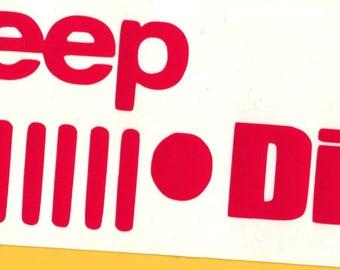 Jeep Diva! * Jeep Vinyl Decal 2.5x6