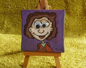 """Mini easel """"Boutchoupitchou"""" - handmade"""