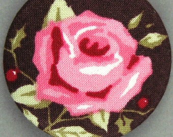 -The Rose - Tilda - diameter 40 mm - 40-14 fabric covered button