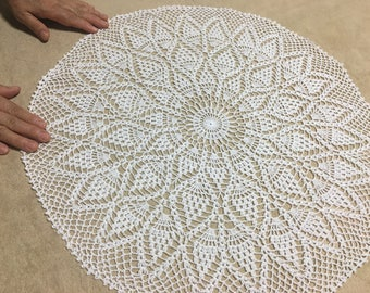 """Hand-Knitted Lace Doily New 52 cm (20.5"""")"""
