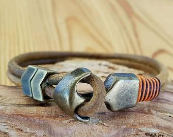 Gift for Man bracelets Men bracelets Leather Mens Bracelet Bracelet Anniversary gift for men Gift under 25 dollars