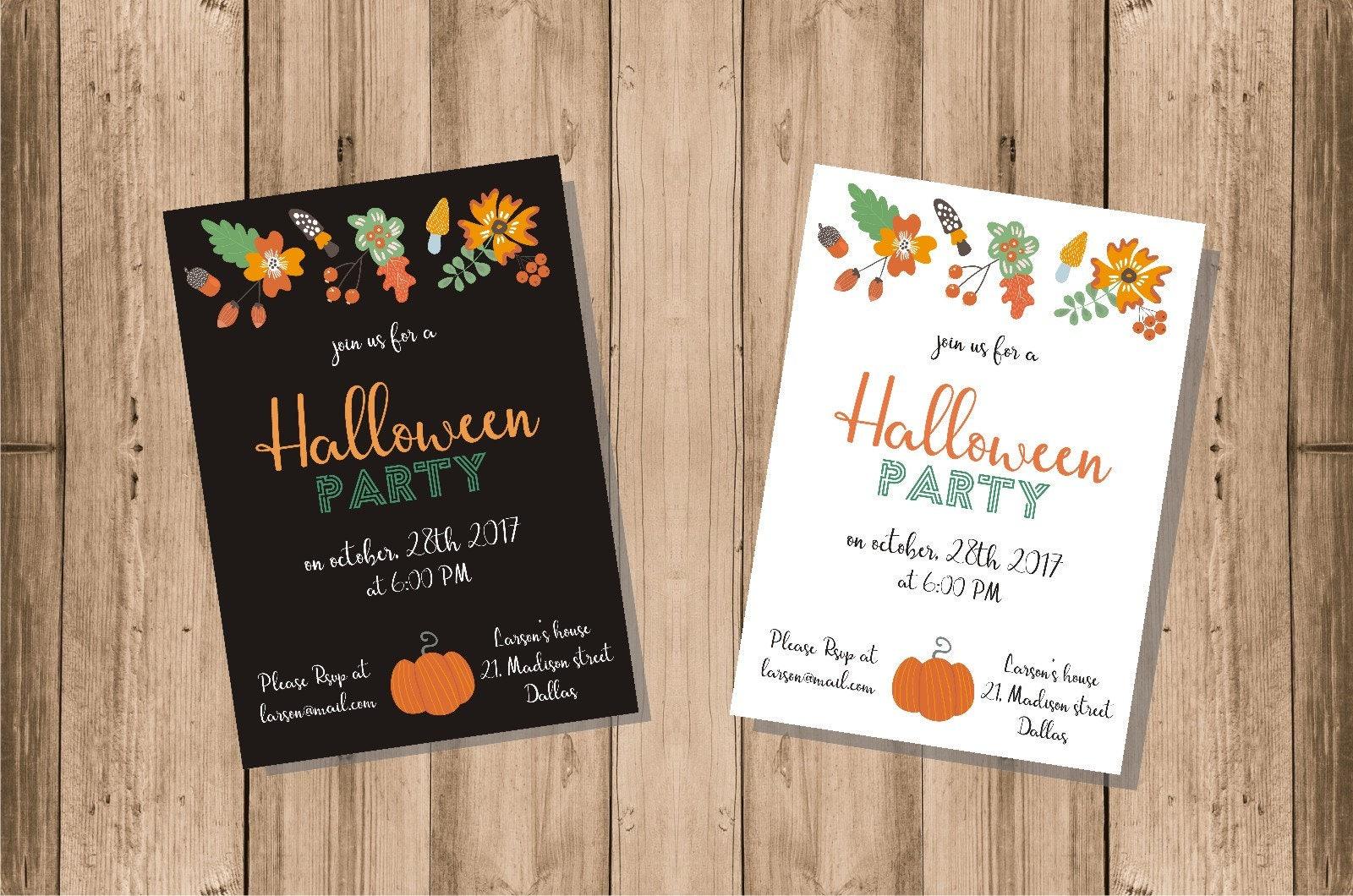 halloween party invitations halloween invite digital halloween invitation halloween party cards custom