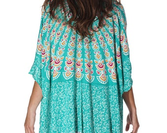 Sea foam Beach Boho Kimono, Swim suit Cover Up