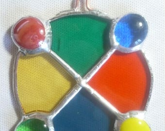 suspension-shaped Locket, stained glass tiffany gorgeous