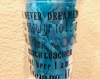 Teacher Plastic Tumbler