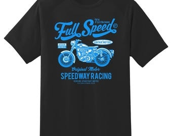 Full Speed speedway racing  tee shirt 08012016