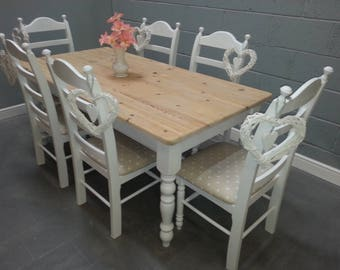 Elegant 6ft x 3ft Shabby Chic Table Set