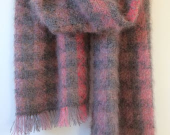 handwoven mohair scarf, shawl, throw or blanket