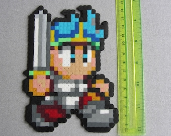 Hama Bead Pixel Creation - Shion from the game Wonderboy in Monster World on the Master System