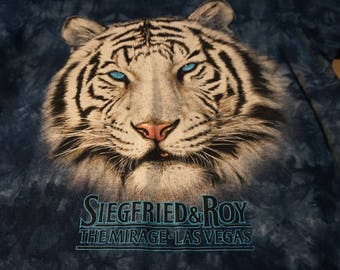 Vintage Siegfried and Roy White Tiger Majestic Tee