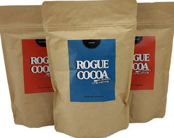 Caffeinated Hot Chocolate Triple - Rogue Cocoa, Caffeine, Best Hot Chocolate, Iced Cocoa