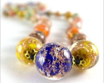 "Beads ""Murano multicolored"" necklace, murano glass, vintage"