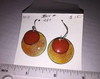 Earrings - Enameled Copper