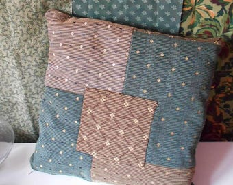 Autumn tapestry type patchwork pillow