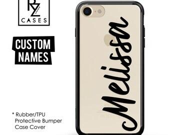 Custom Phone Case, Personalized Case, iPhone 7 Case, iphone 6, Personalized Gift for Her, Custom Name, iPhone 6s, Rubber, Bumper