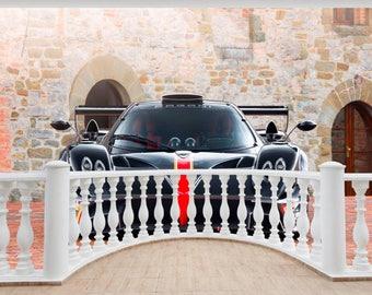 Huge 3D Balcony Pagani Zonda Revolucion Revolution Wall Stickers 629