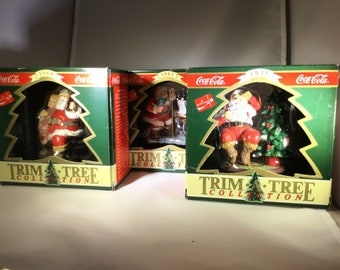 3coca-Cola  Santa Christmas ornaments