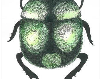 Bug the Beetle, Art Print, Poster