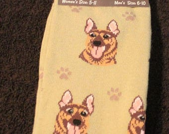 German Shepherd Dog Breed Lightweight Stretch Cotton Adult Socks