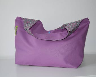 leatherette old rose/printed pink Peacock bag