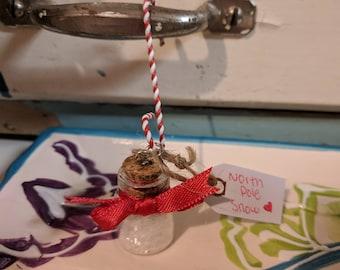 Christmas Elf North Pole Snow Jar