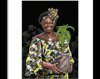 Wangari Maathai Potrait