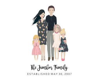 DIGITAL DOWNLOAD - Custom Family Portrait - Plain