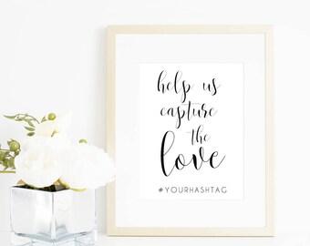 Wedding Hashtag Sign Printable. Wedding Hashtag Printable. Hashtag Printable. Share the Love Sign. Hashtag Wedding Sign. Wedding Hashtag.