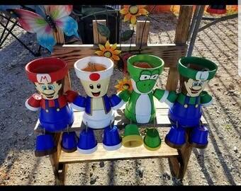 Mario Clay Pot People