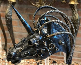 Steampunk unicorn mask
