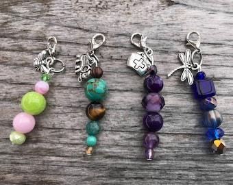 Zipper Pull Charm, Zipper Pull, Knitting Progress Keepers, Knitting Progress Markers, Zipper Pulls for Purses, Handbag Zipper Pulls, Women