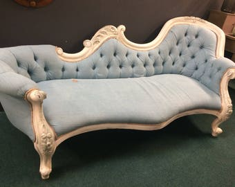 French Chaise Lounge Sofa X-Large Re-upholstered