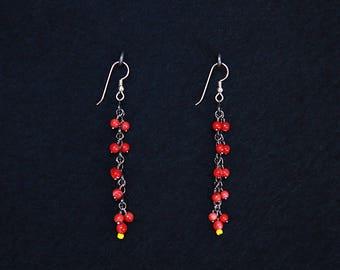 Red Cherry Dangle Earrings