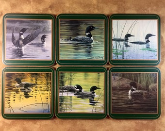 Set of 6 Pimpernel Coasters - Duck Coasters - Made in England