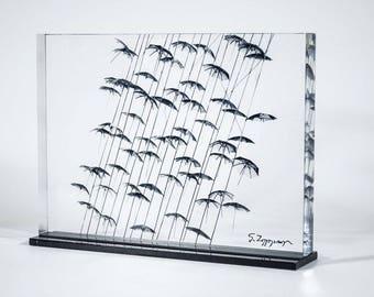 Umbrellas maquette - Thessaloniki & Psychiko (print 19x13,6)