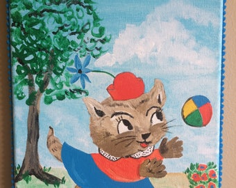 Retro Running Cat