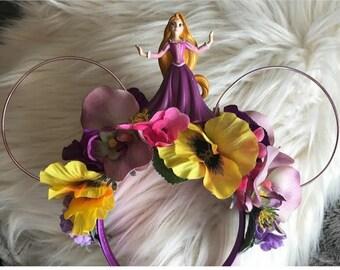 Rapunzel theme Flower Crown Ears