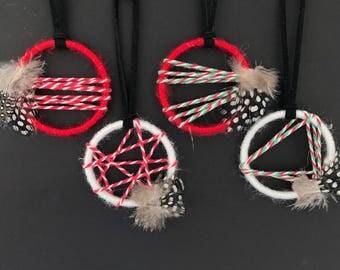 Christmas ornaments, holiday party favors, secret santa gifts set of 4