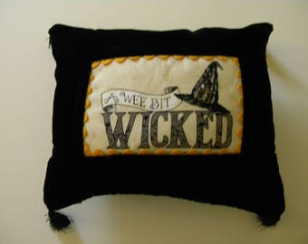 A Wee Bit Wicked Halloween Pillow