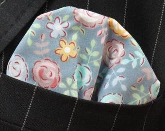 Hankie Pocket Square Handkerchief Roses Quality CottonUK Made