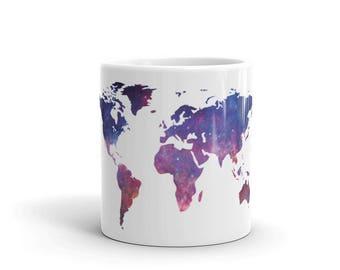 World map mug etsy world map mug map travel map map art world map wall art sciox Image collections