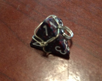 D4 Wire Wrapped Charm
