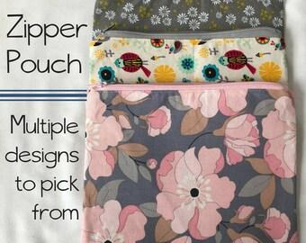 Zipper pouch, Zipper bag, makeup bag, pencil bag, accessories pouch, makeup pouch