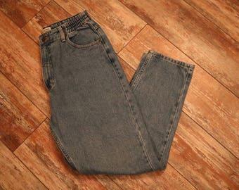 L.L Bean Women's Vintage Mom Jeans Tapered Leg 8P Light Wash Stretch Waist