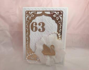 Beautiful White Birthday Card
