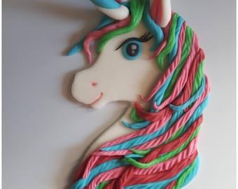 Unicorn made of Fondant (sugar paste)-Cake