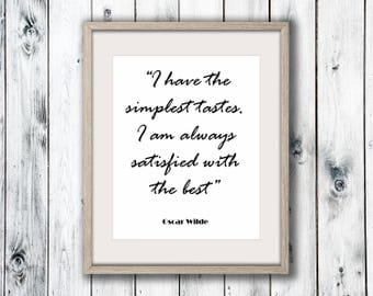 Oscar Wilde Quote, Wall Art Print, Home Decor, Printable Digital Download, Poster Print